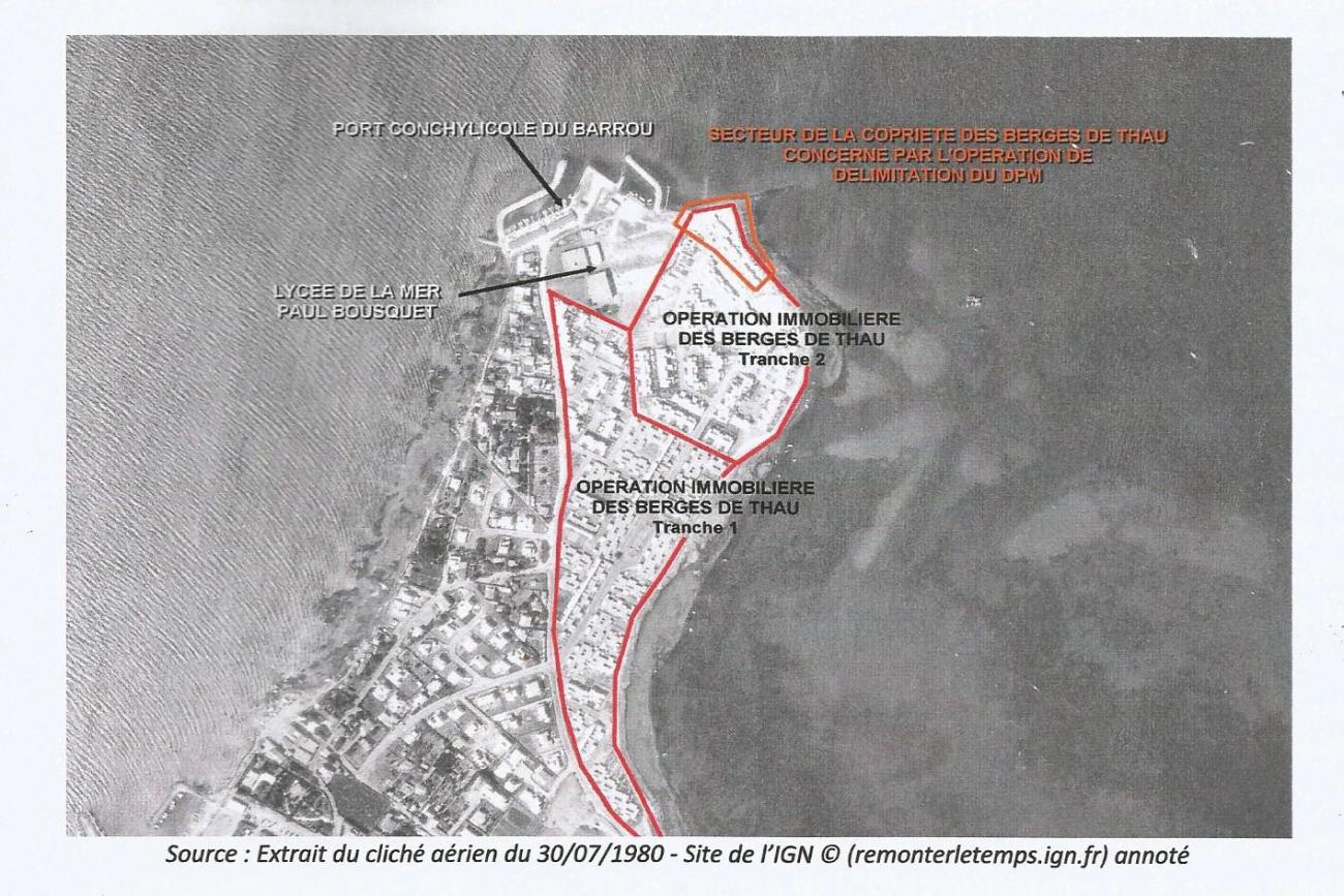 Délimitation du domaine public maritime de la commune de Sète