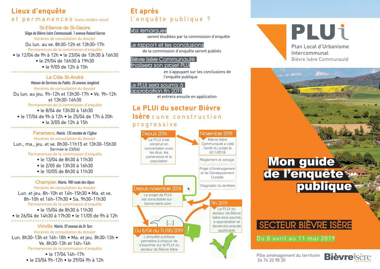 Enquête publique sur l'élaboration du PLUi et les zonages d'assainissement des eaux usées et pluviales