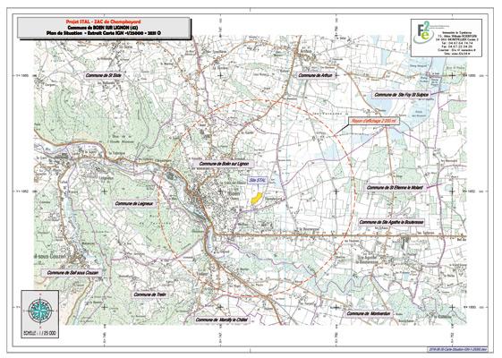Autorisation au titre des ICPE, Société STAL TP, commune de Boen sur lignon