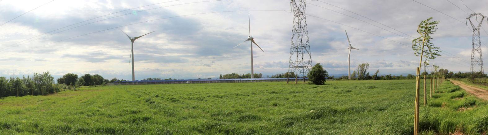Projet photovoltaique au sol à Cuxac d'Aude dans l'Aude